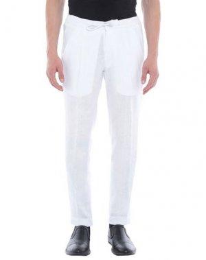 Повседневные брюки JULIAN KEEN. Цвет: белый
