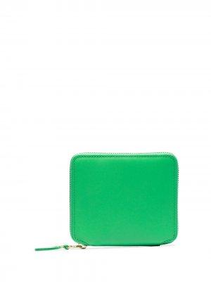 Кошелек на молнии Comme Des Garçons Wallet. Цвет: зеленый