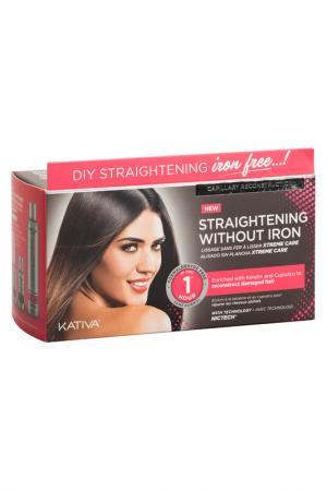 Набор для выпрямления волос Kativa. Цвет: розовый