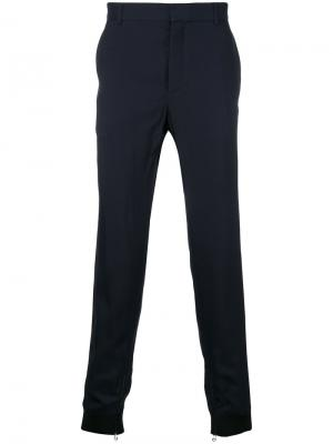 Классические брюки с контрастными манжетами Lanvin. Цвет: синий