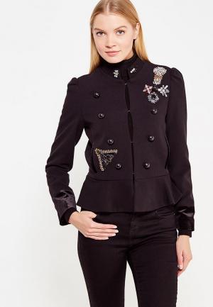 Куртка Mango - BOMBON. Цвет: черный