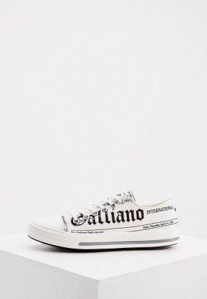 Кеды John Galliano. Цвет: белый