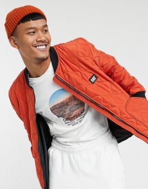Темно-оранжевая куртка Caterpillar iconic cat-Оранжевый Cat Footwear