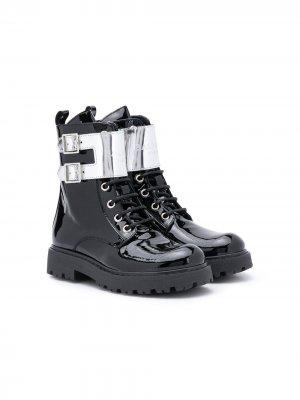 Лакированные ботинки Balmain Kids. Цвет: черный