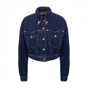 Джинсовая куртка Versace Jeans Couture. Цвет: синий