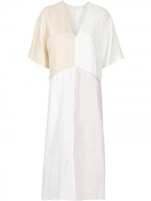 Платье Josee с V-образным вырезом Equipment. Цвет: белый
