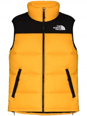 Two-tone padded gilet The North Face. Цвет: желтый