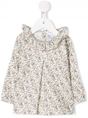 Твиловая рубашка с цветочным принтом Aletta. Цвет: белый