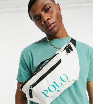Кремовая сумка-кошелек на пояс с зеленым логотипом x ASOS Exclusive Collab-Белый Polo Ralph Lauren