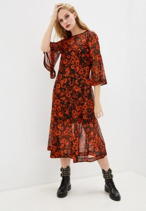 Платье McQ Alexander McQueen. Цвет: оранжевый