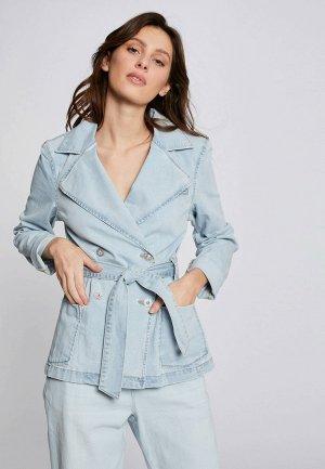 Куртка джинсовая Morgan. Цвет: голубой