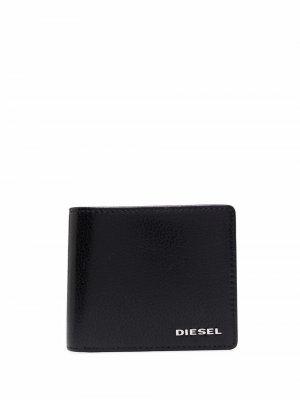 Кошелек с логотипом Diesel. Цвет: черный