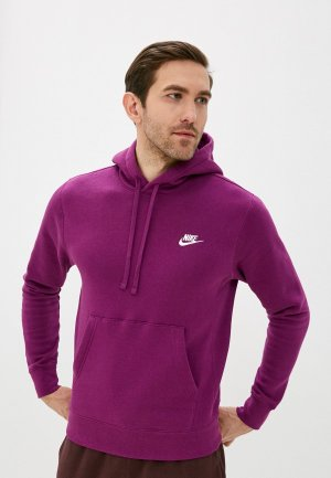 Худи Nike M NSW CLUB HOODIE PO BB. Цвет: фиолетовый