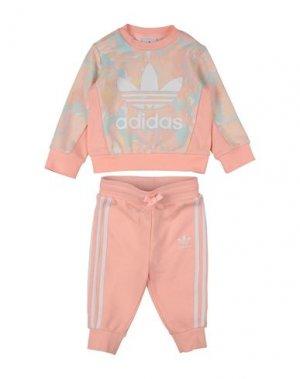 Комплект для малыша ADIDAS ORIGINALS. Цвет: светло-розовый