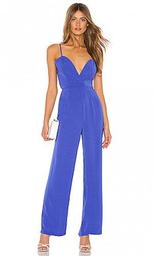 Пляжный костюм с широкими брюками abigail superdown. Цвет: синий