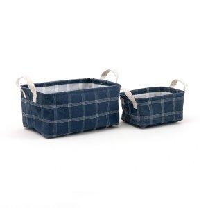 Комплект из 2 корзин S LaRedoute. Цвет: синий