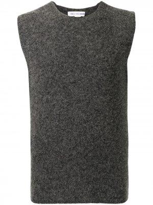Шерстяной жилет с круглым вырезом Comme Des Garçons Shirt. Цвет: серый