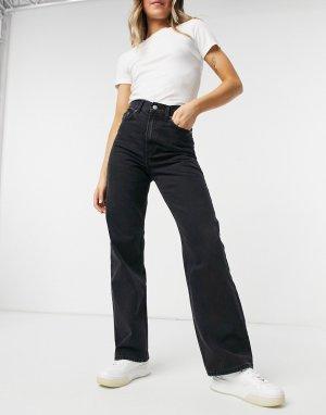Черные джинсы с широкими штанинами Echo-Черный цвет Dr Denim