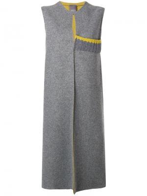 Длинный жилет Lorena Antoniazzi. Цвет: серый