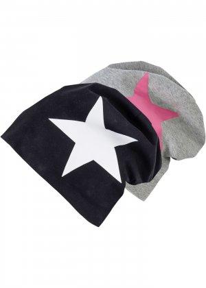 Трикотажная шапочка бини bonprix. Цвет: черный