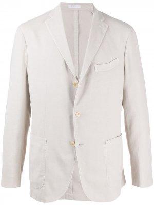 Пиджак строгого кроя Boglioli. Цвет: нейтральные цвета