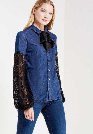 Рубашка джинсовая Fornarina. Цвет: синий