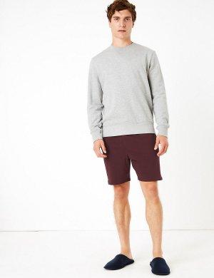 Трикотажные пижамные шорты (2 пары) M&S Collection. Цвет: бургунди микс