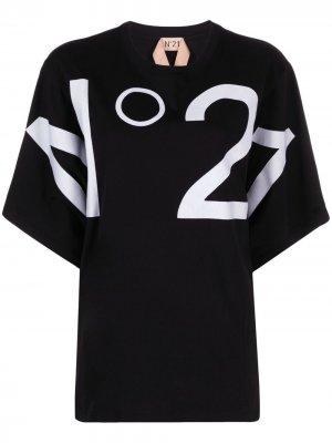 Футболка с логотипом Nº21. Цвет: черный