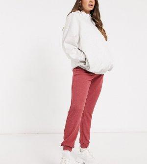 Джоггеры ягодного цвета в рубчик -Красный New Look Maternity