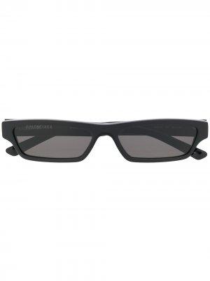 Rectangle sunglasses Balenciaga Eyewear. Цвет: черный