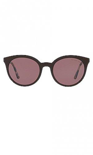 Солнцезащитные очки cat eye round Prada. Цвет: коричневый