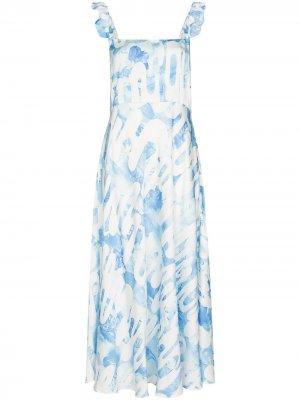 Платье миди Market с оборками Collina Strada. Цвет: синий