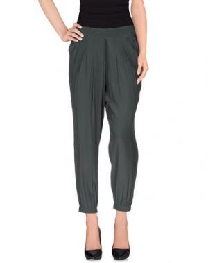 Повседневные брюки ANIYE BY. Цвет: зеленый-милитари