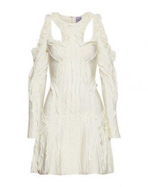 Короткое платье HERVÉ LÉGER. Цвет: слоновая кость