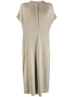 Трикотажное платье-туника Strickkleid Agnona. Цвет: нейтральные цвета