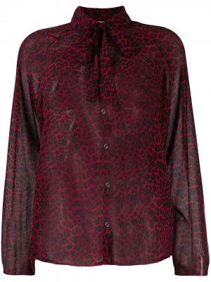 Рубашка с леопардовым принтом и бантом Liu Jo