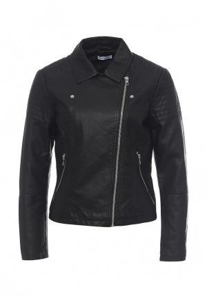 Куртка кожаная Jacqueline de Yong. Цвет: черный