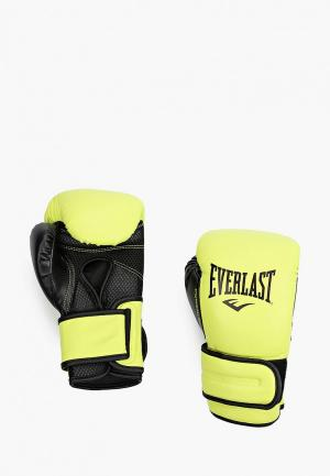 Перчатки боксерские Everlast Powerlock. Цвет: зеленый