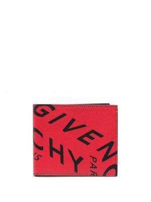 Кошелек с логотипом Givenchy. Цвет: красный