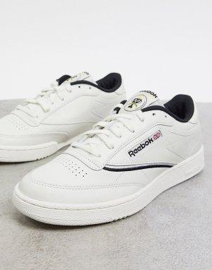 Кремовые кроссовки с кантом Club C-Белый Reebok
