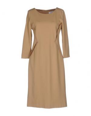 Платье до колена ANNA RACHELE. Цвет: песочный