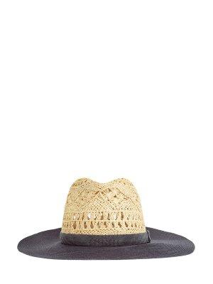 Широкополая шляпа с мерцающей лентой Precious Band BRUNELLO CUCINELLI. Цвет: мульти
