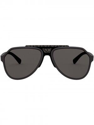 Солнцезащитные очки-авиаторы Dolce & Gabbana Eyewear. Цвет: черный