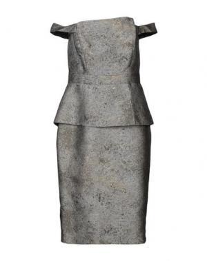 Платье до колена BLACK HALO EVE by LAUREL BERMAN. Цвет: серый