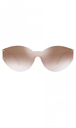 Солнцезащитные очки rock icons medusa biggie VERSACE. Цвет: metallic gold,purple