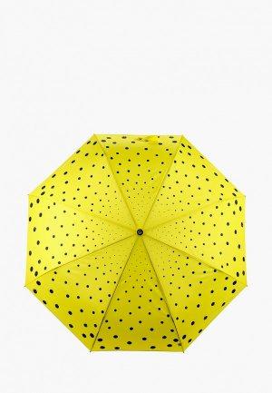 Зонт складной Flioraj. Цвет: желтый