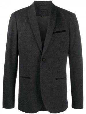 Однобортный пиджак John Varvatos. Цвет: серый