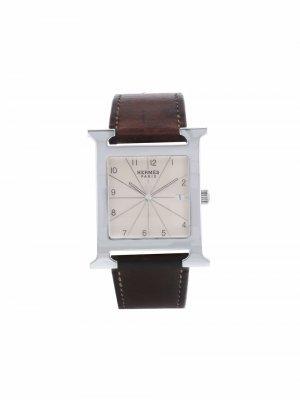 Наручные часы Heure H pre-owned 31 мм 2020-го года Hermès. Цвет: белый