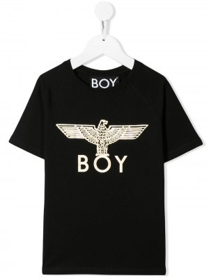 Футболка с логотипом Boy London Kids. Цвет: черный