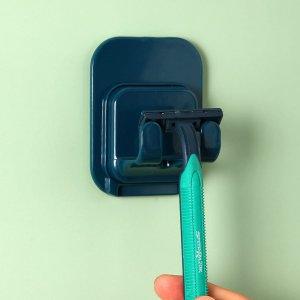 1шт Мужская бритва для бритья с держателем SHEIN. Цвет: темно-зеленый